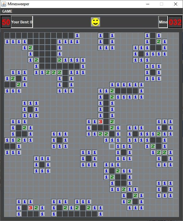 تصویر پروژه بازی Minesweeper با جاوا